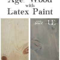 Age wood with latex paint copy copy