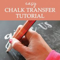 Chalkboard Transfer Method Tutorial