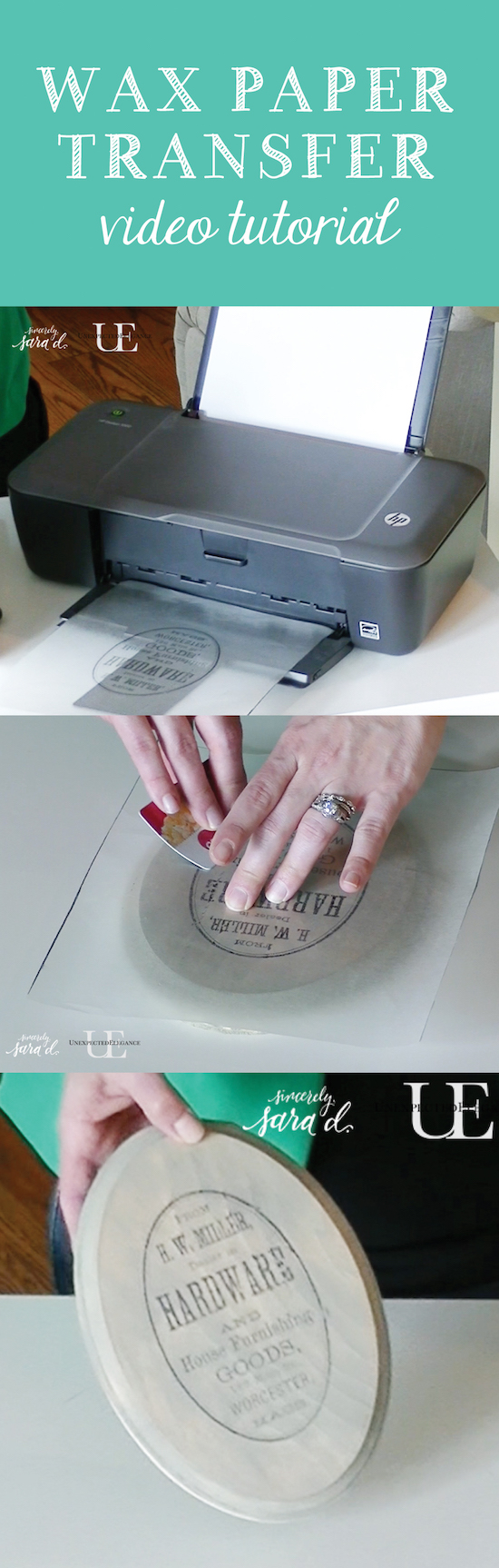 wax paper image transfer tutorial video how to flip an