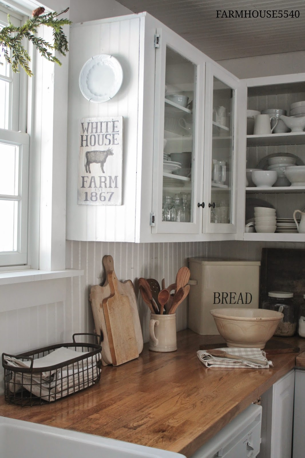 7 ideas for a farmhouse inspired kitchen on a budget for White farm kitchen