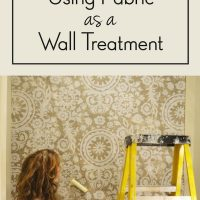 Fabric Wall Treatment- feature