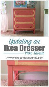Easily Updating an Ikea Dresser {Video Series}