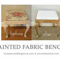 painted fabric bench