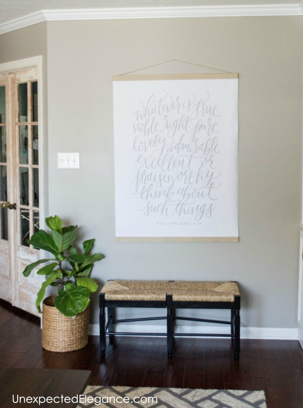 Diy large wall art for less than 20 unexpected elegance Large wall art
