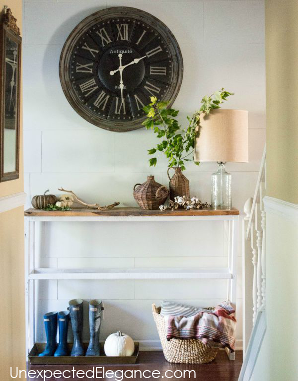 Get a peek into my home decorated for fall! Get some inspiration and ideas for inexpensive fall decor.