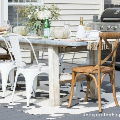 DIY Zinc Outdoor Table