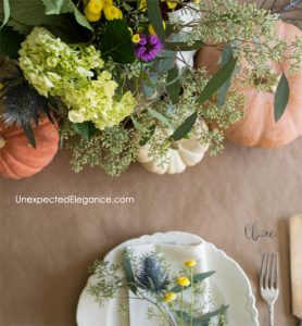 Quick and Easy Thanksgiving Table