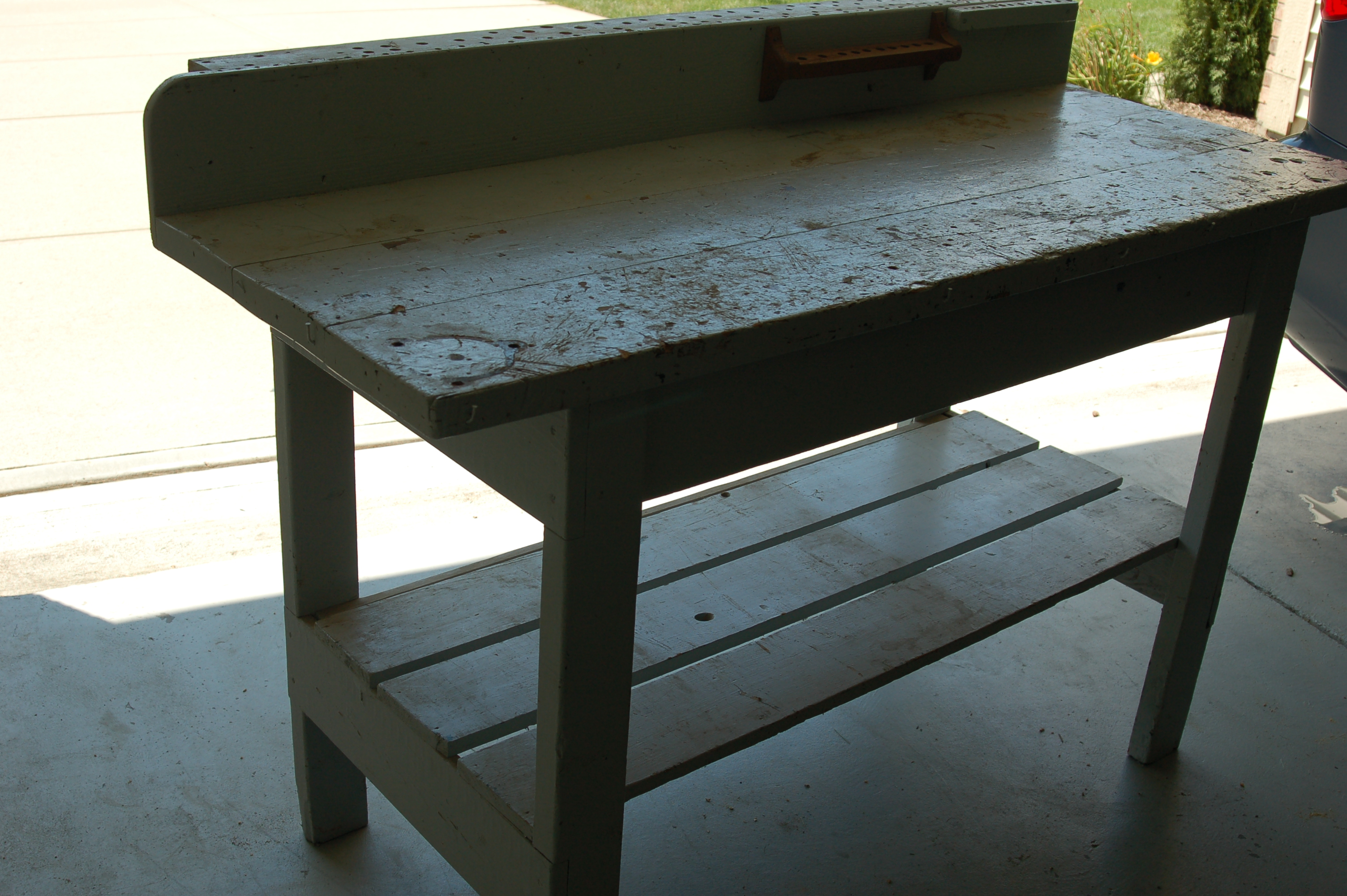 Workbench Turned Potting Table