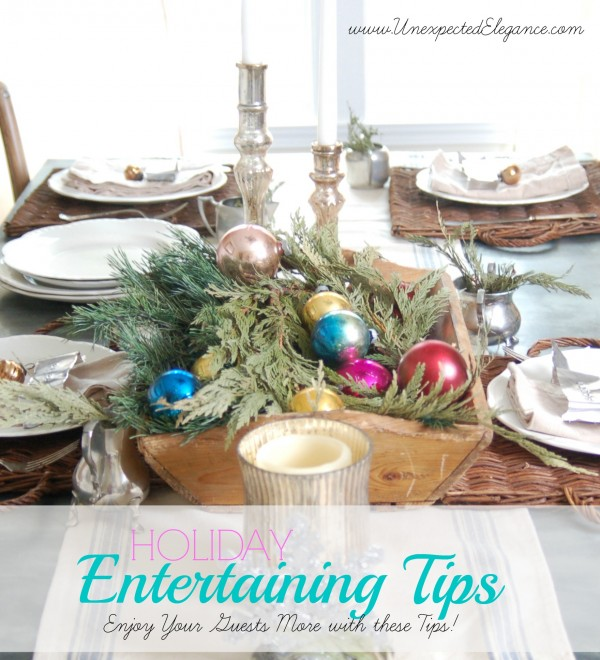Holiday Entertaining Tips from Unexpected Elegance