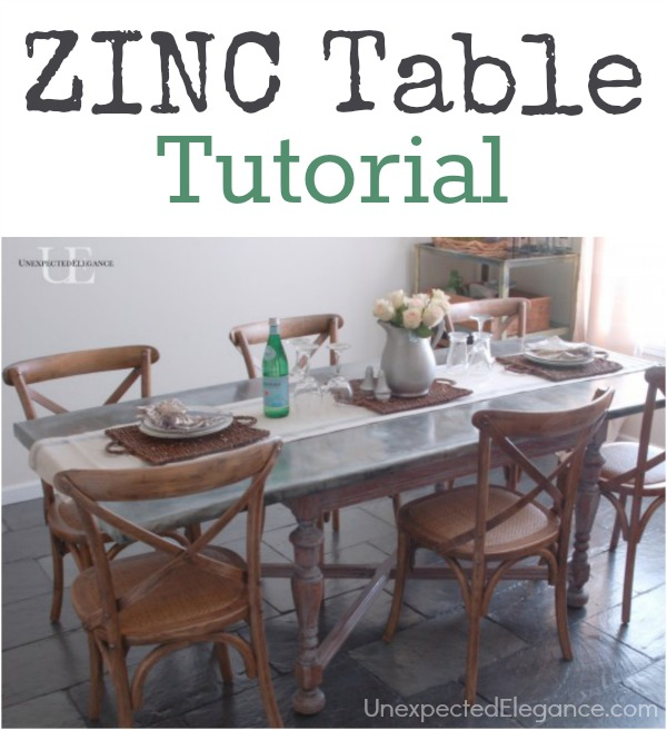Zinc Table Tutorial