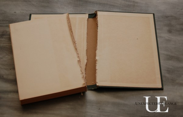 Steps for making an IPad cover using an old book.
