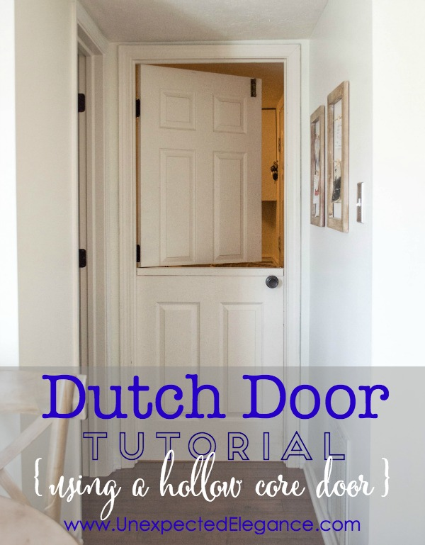 Dutch or Split Door Tutorial Using a Hollow Core Door..step by step instructions. PERFECT for dogs and toddlers! ;)