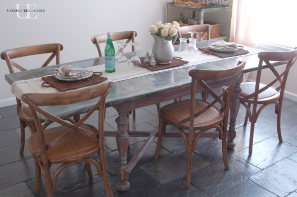 zinc top dining table weathered oak zinc table tutorialjpg zinc table tutorial unexpected elegance