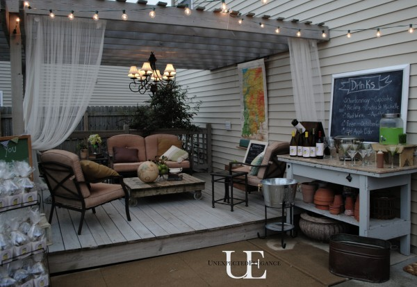 Patio area for Teacher Themed party