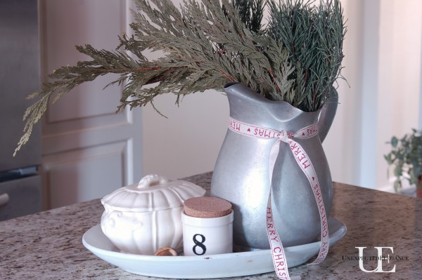 Christmas Kitchen Centerpiece at Unexpected Elegance