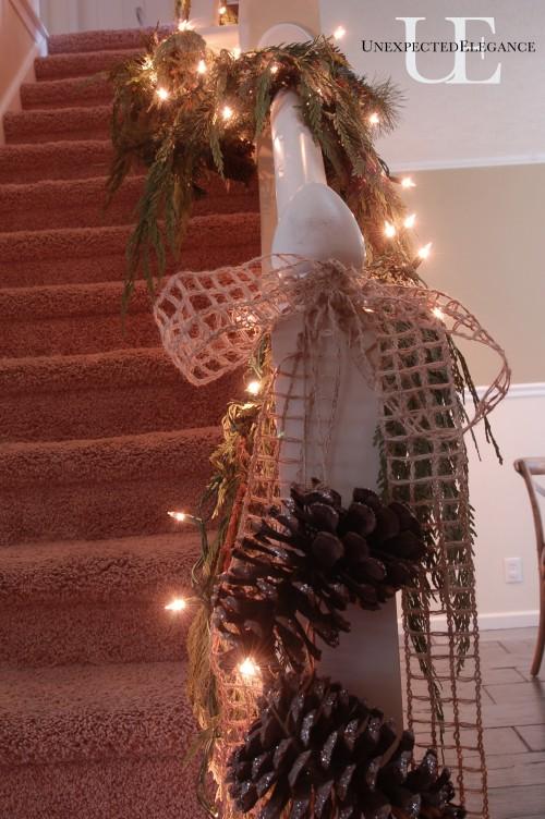 Stairs garland