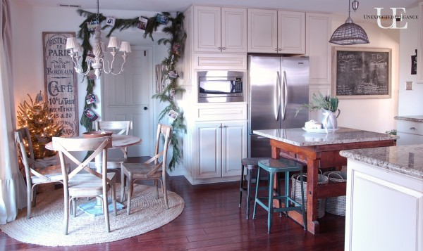 Unexpected Elegance Kitchen at Christmas