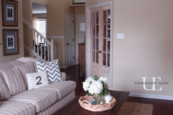 Living room and doors
