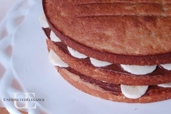 Banana Cake Layers at Unexpected Elegance