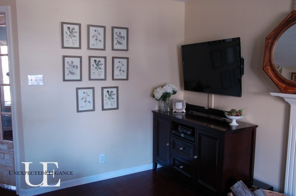Filling a wall with pictures from Unexpected Elegance