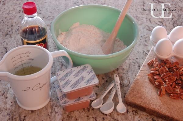 wet ingredients for Valentine cake