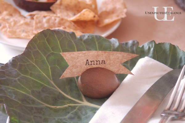 Avocado seed place card holder from Unexpected Elegance