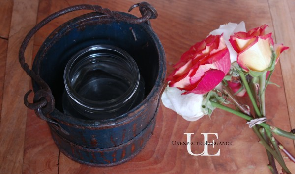 DIY Rose Centerpiece from Unexpected Elegance