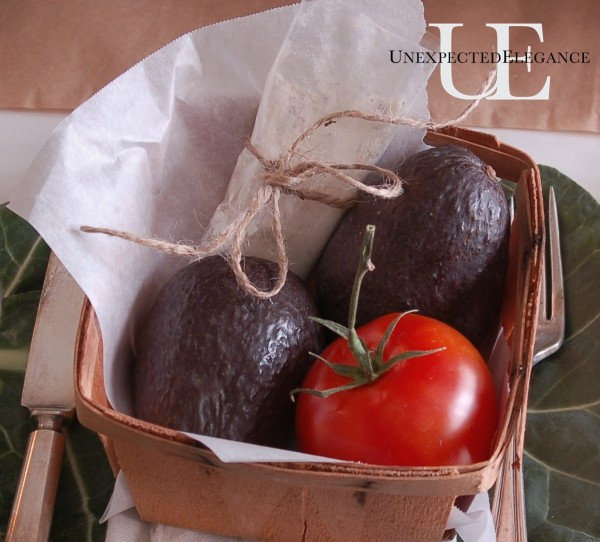 Guac basket favor from Unexpected Elegance