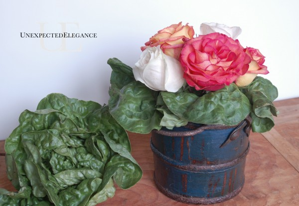 Lettace and Rose arrangement from Unexpected Elegance