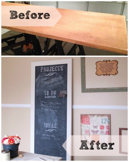 Before and After Chalkboard