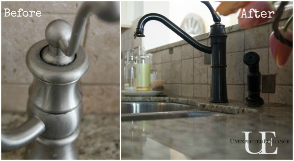 Before and After Faucet