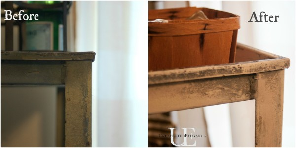 Before and After of Rolling Cart via Unexpected Elegance