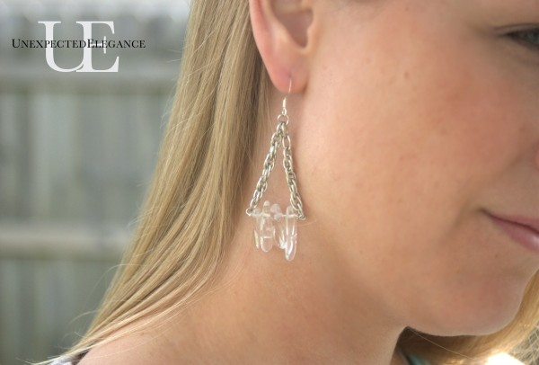 DIY Crystal Earrings via Unexpected Elegance