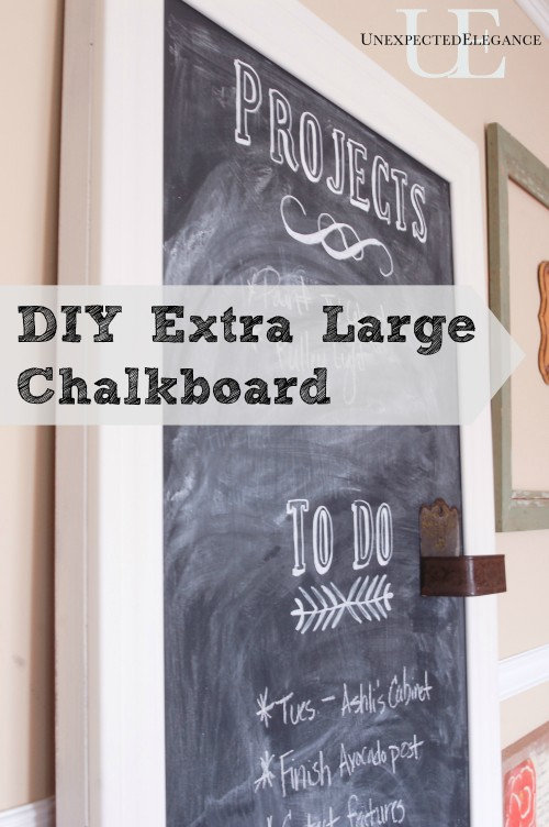 DIY Extra Large Chalkboard at Unexpected Elegance