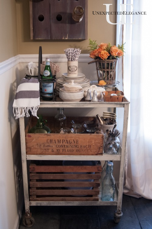 Industrial Cart Turned Serving Cart Via Unexpected Elegance (1 Of 1) 5