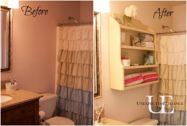 Before and After of Girl's Bathroom via Unexpected Elegance