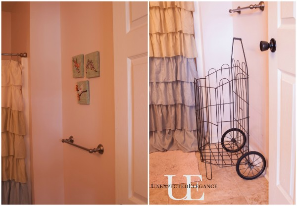 Before and After of Towel Bar Area via Unexpected Elegance