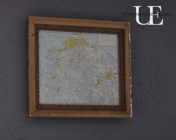 Antique Framed Map at Unexpected Elegance (1 of 1)