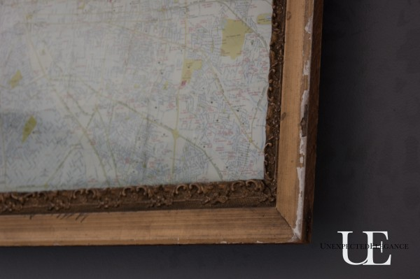 Antique Framed Map via Unexpected Elegance (1 of 1)-3