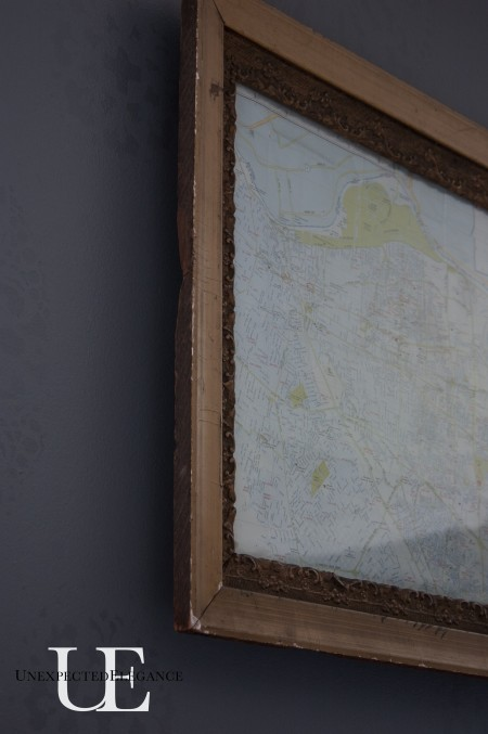 Antique Framed Map via Unexpected Elegance (1 of 1)