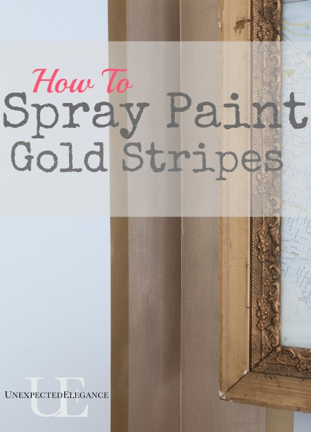 How to Spray Paint Gold Stripes