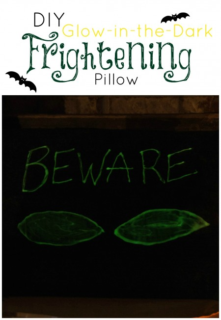 DIY Glow in the Dark Frightening Pillow for Halloween at Unexpected Elegance