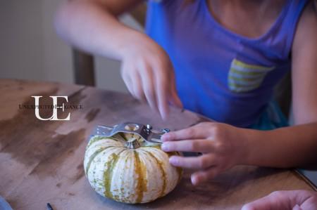 Decorating Halloween Pumpkin Craft at Unexpected Elegance (1 of 1)-3