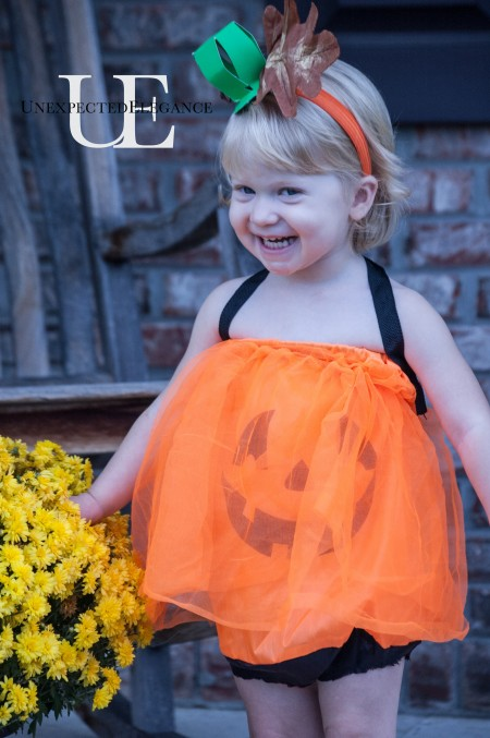 Dollar Store DIY Girl's Pumpkin Costume at Unexpected Elegance (1 of 1)-4