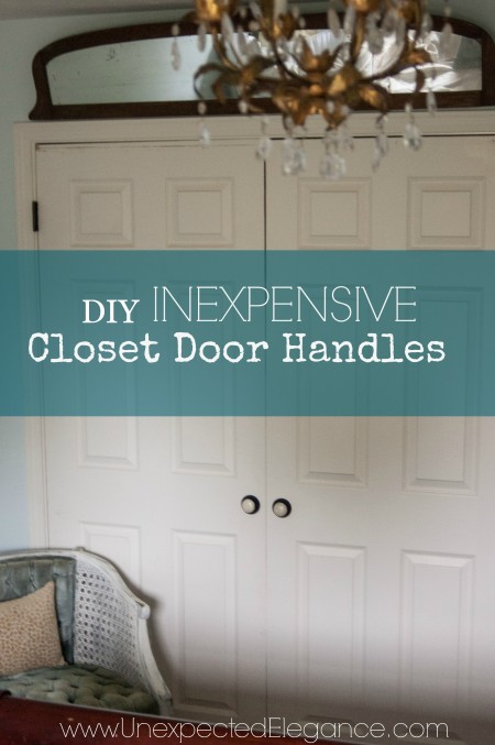 How to Add Inexpensive Door Handles to Closet Doors