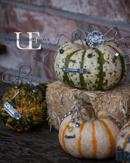 Industrial Halloween Pumpkin Craft at Unexpected Elegance (1 of 1)