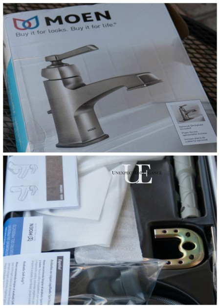 Moen Box with instructions