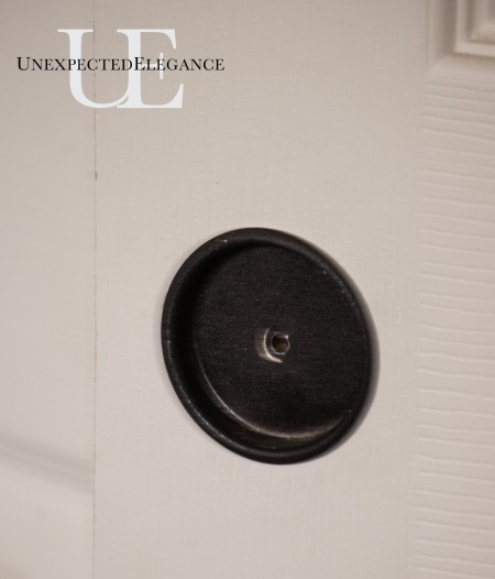 Steps for adding a handle to closet door (1 of 1)
