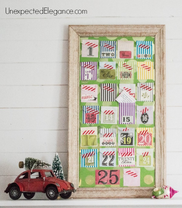 Get a pocket calendar tutorial perfect for advent or 25 Days of Giving in December!  This is a very easy and inexpensive way to celebrate the holidays.