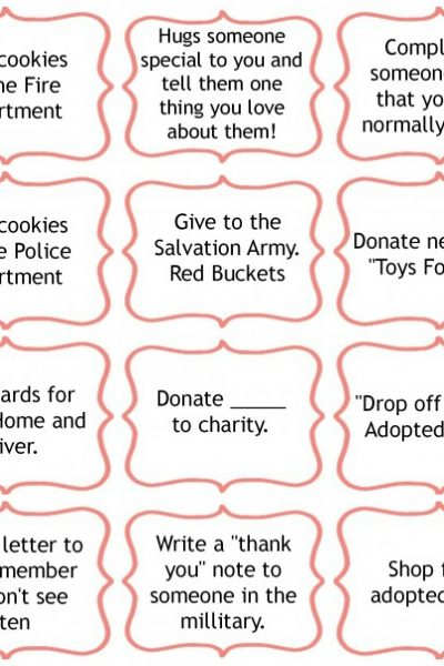 25 Days of Giving AND Free Printables